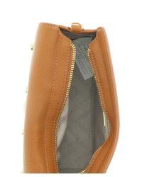 Versace - Brown Ee1vqbbr6 E903 Compact Oblong Bag- Jeans Signature Medallion Tan Crossbody Bag - Lyst