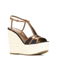 Sergio Rossi - Women's A60310mfn105428 Multicolor Leather Wedges - Lyst