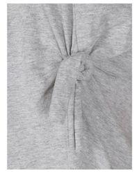 Helmut Lang - Gray Women's Grey Cotton T-shirt - Lyst
