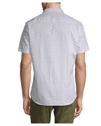 Jared Lang - White Printed Short-sleeve Button-down Shirt for Men - Lyst