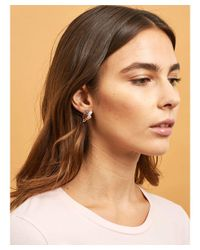 Les Nereides - Pink Little Cats Duo With Faceted Glass And Charms Clip Earrings - Lyst
