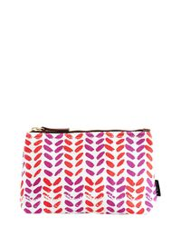 Maika - Red Leaves Print Zipper Pouch, Small - Lyst