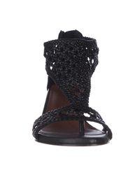 Donald J Pliner - Donald J Pliner Verona Woven T-strap Sandals - Black - Lyst
