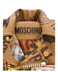 Moschino - Women's Brown Leather Shoulder Bag - Lyst