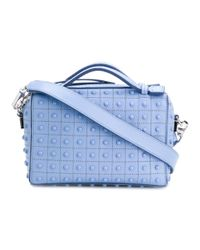 Tod's - Women's Light Blue Leather Shoulder Bag - Lyst
