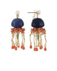 Les Nereides - Atlantide Blue Jellyfish Earrings - Lyst