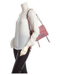 Prada - Pink Etiquette Leather Shoulder Bag - Lyst
