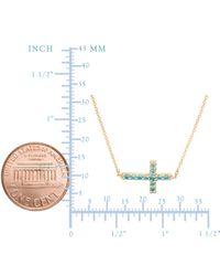 "JewelryAffairs - Metallic 14k Yellow Gold Cross Pendant Necklace, 16"" To 18"" Adjustable - Lyst"