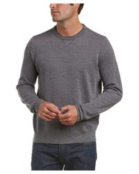 Canali - Black Crewneck Wool Sweater for Men - Lyst