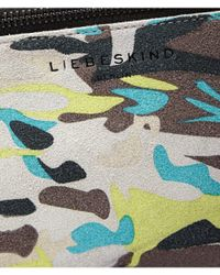 Liebeskind Berlin | Green Kiwif7 Camouflage Suede Pouch | Lyst