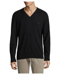 Burberry - Black Cashmere V-neck Sweater for Men - Lyst