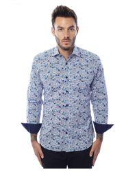 Bertigo - Blue Multicolor Buttons Graphic for Men - Lyst