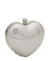 Whiting & Davis | Metallic Charity Heart Minaudiere | Lyst