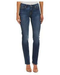 7 For All Mankind | Blue 7 For All Mankind Kimmie Medium Mount Rose Straight Leg | Lyst