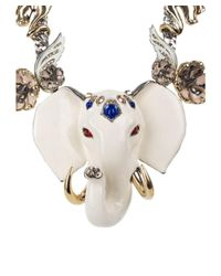 Roberto Cavalli - Metallic Womens Gold Swarovski Crystal Elephant Necklace - Lyst