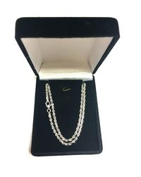 JewelryAffairs - 14k White Gold Solid Diamond Cut Royal Rope Chain Necklace, 2.5mm, 22 Inch - Lyst