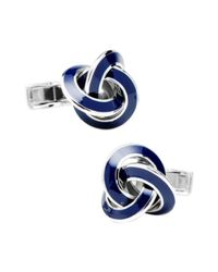 Ravi Ratan - Metallic Men's Sterling Knot Cufflinks for Men - Lyst