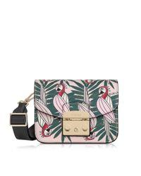 Furla - Women's Pink Leather Shoulder Bag - Lyst