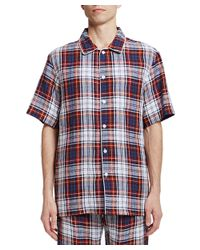 Sleepy Jones | Red Henry Pajama Shirt for Men | Lyst