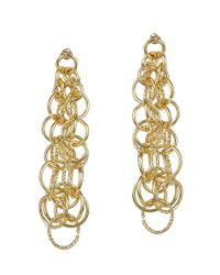 Jardin - Metallic Cluster Interlocking Italian Inspired Ring Earrings - Lyst