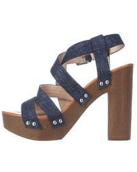 INC International Concepts - I35 Camira Platform Strapped Sandals, Eclipse Blue - Lyst