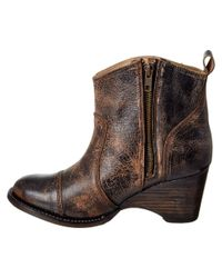 Bed Stu - Black Gentry Leather Bootie - Lyst