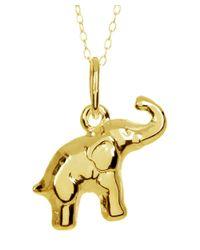 Barzel - Metallic 18k Gold Ptd Sterling Silver Elephant Pendant Necklace - Lyst