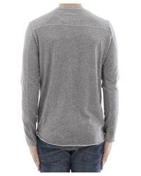 Edwin - Gray Men's Grey Cotton Sweater for Men - Lyst