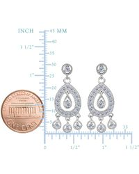 JewelryAffairs - White Sterling Silver And Cubic Zirconia Chandelier Drop Earrings - Lyst
