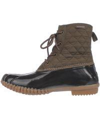 Jambu - Jbu By Stefani Mid-calf Rain Boots, Army Green/brown - Lyst
