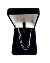 JewelryAffairs - White Sterling Silver Rhodium Plated Round Snake Chain Necklace, 1.1mm, 20 - Lyst