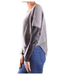 Pinko - Gray Women's Grey Wool Sweater - Lyst