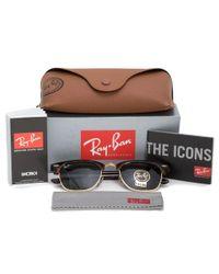 Ray-Ban - Multicolor Clubmaster Sunglasses Rb3016 W0366e 49 - Lyst