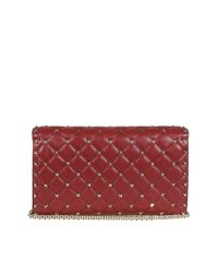 Valentino - Women's Red Leather Shoulder Bag - Lyst