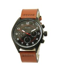 ALDO - Brown Bromleah Stainless Steel Watch - Lyst