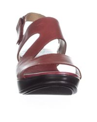 Naturalizer - Red Valerie Wedge Sandals, Dark Venom - Lyst
