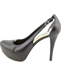 Guess - Black Jacoba Open Toe Synthetic Platform Heel - Lyst