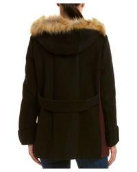 Maje - Black Wool-blend Coat - Lyst