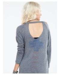 Chaser | Gray Watercolor Cross Tee | Lyst