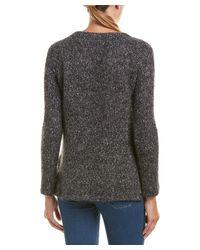 Splendid - Black V-neck Sweater - Lyst