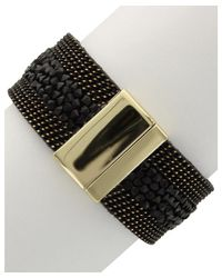 Sparkling Sage - Black 14k Plated Resin Bracelet - Lyst