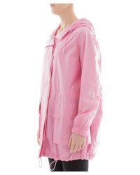 Theory - Women's Pink Polyamide Outerwear Jacket - Lyst