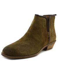 Franco Sarto - Brown Ricochet Women Round Toe Suede Ankle Boot - Lyst