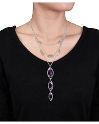 Julianna B - 3/8 Ct Diamond Tw And Purple Chalcedony Necklace - Lyst