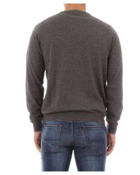 Sun 68 - Gray Men's Grey Cotton Sweater for Men - Lyst