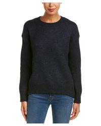 Vince - Blue Drop Shoulder Crew Sweater - Lyst
