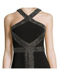 Parker - Black Mila Embellished Halter Gown - Lyst