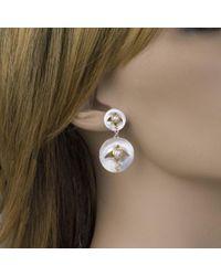 Jewelista - Multicolor Pearl, Mother Of Pearl Drop Earrings - Lyst