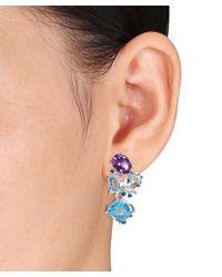 Catherine Malandrino - Metallic Sterling Silver Cluster Earrings - Lyst