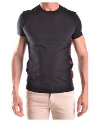 John Galliano   Men's Mcbi130115o Black Cotton T-shirt for Men   Lyst